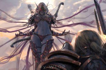 World of Warcraft wallpaper, digital art, artwork, women, video games