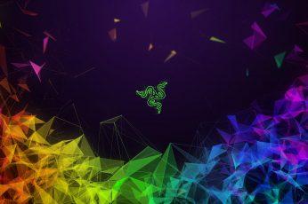 Vibrant wallpaper, 4K, Colorful, Gaming Laptop, Razer Blade 15, Dark