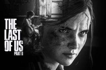 The Last of US Part II game poster wallpaper, girl, guitar, face, Naughty Dog