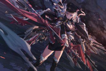 Anime wallpaper, video games, Azur Lane, Azur_Lane, Bismarck (Azur Lane)
