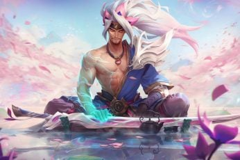 Spirit blossom wallpaper, Yasuo, Yasuo (League of Legends), Riot Games