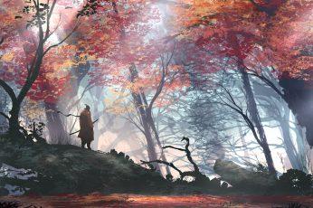Sekiro wallpaper, digital art, artwork, Shadows Die Twice, video games