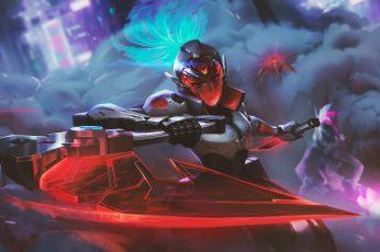 PROJECT wallpaper, Akali, Akali(League of Legends), Riot Games, futuristic