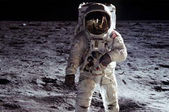 Neil Armstrong, Moon, space, astronaut, Apollo, unrecognizable person