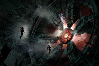 Videogame digital wallpaper, artwork, futuristic, science fiction