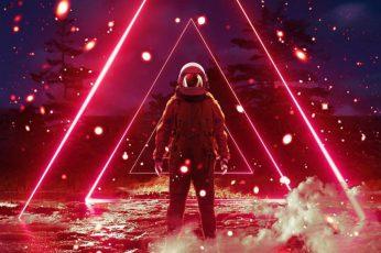 Synthwave, virtualreality, vaporwave, retrowave, astronaut