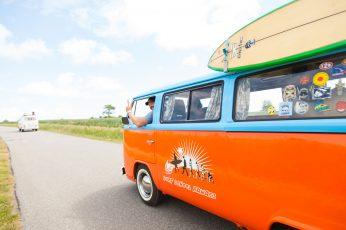 Orange and blue van wallpaper, vw bus, bulli, volkswagen vw, auto, cult