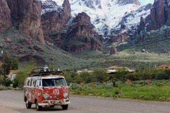 Desert snow wallpaper, superstition mountain, superstition mountain snow
