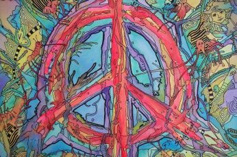 Artistic wallpaper, Psychedelic, Hippie, Peace Sign, Trippy
