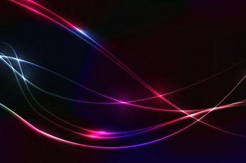 Neon colors, Lights, 5K, Black, Dark background
