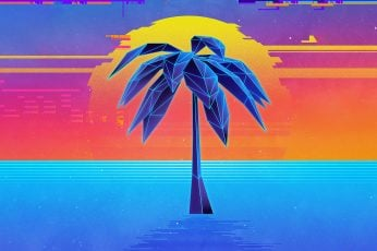 Digital, digital art, artwork, Retro style, neon, vaporwave