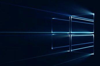 Microsoft Windows 10 Desktop Wallpaper 04, abstract, black color