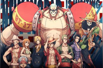 One Piece wallpaper, Franky, Nami, Sanji, Monkey D. Luffy, Roronoa Zoro
