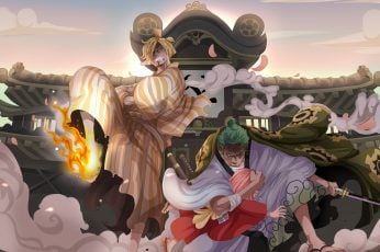One Piece wallpaper, Roronoa Zoro, Sanji (One Piece), Toko (One Piece)