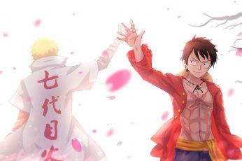 One Piece wallpaper, anime, Naruto Shippuuden, Uzumaki Naruto