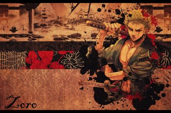 Anime wallpaper, One Piece, Roronoa Zoro