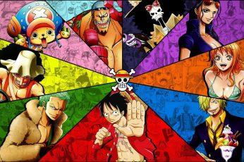 One Piece wallpaper, straw hat, straw hat pirates, anime, anime girls