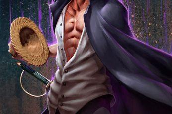 Portgas d Ace wallpaper, One Piece, Shanks, Yonkou, purple, redhead, adult