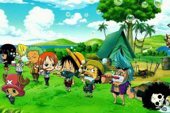 One Piece digital wallpaper, Nico Robin, Roronoa Zoro, Nami, Monkey D. Luffy