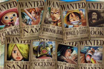 One Piece wanted posters wallpaper, Tony Tony Chopper, Nami, Roronoa Zoro