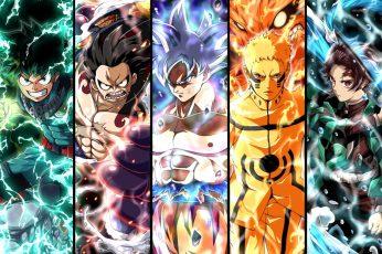 Anime wallpaper, Crossover, Demon Slayer: Kimetsu no Yaiba, Dragon Ball