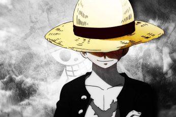 Monkey D. Luffy wallpaper, One Piece, straw hat