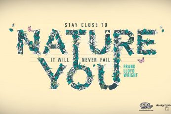 Nature Your text, Nature You on white background, typography