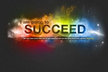 I Am Going to Succeed illustration, quote, colorful, motivational