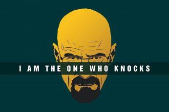 Breaking Bad, Walter White, Heisenberg, typography, quote, yellow