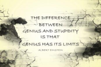 Black text on beige background, quote, typography, Albert Einstein