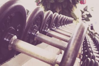 Black dumbbell lot, dumbbells, sports, gym, close-up, no people