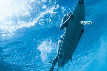 White snowboard, surfing, underwater, sea, surfboards, sport