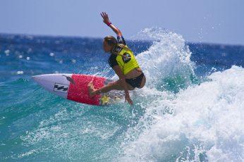 Surfing, women, sea, sport, sports, water, motion, one person