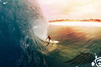 Surfing HD, surfer on white surfboard, sports