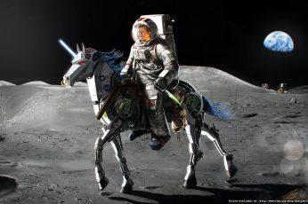 Astronaut wallpaper, Earth, f, horse, john, Kennedy, Machine, Moon, Unicorn