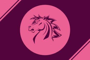 Logo, pink, unicorn wallpaper