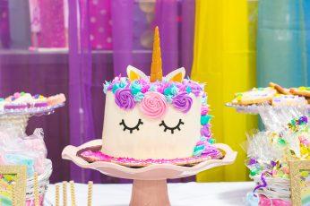 Unicorn Fondant Cake, baked, bakery, baking, birthday, birthday cake