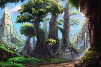 Green leafed tree digital wallpaper, The Hobbits digital wallpaper