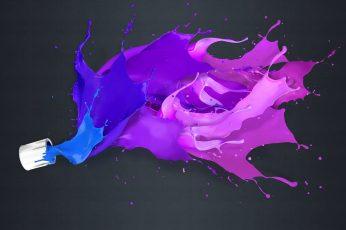 Pink and purple wallpaper paint splatter illustration, painting, liquid