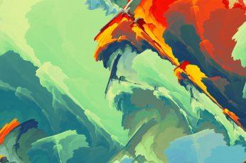 Abstract painting wallpaper, colorful, digital art, DeviantArt, nature