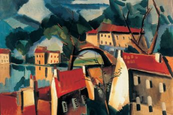 Multicolored house painting wallpaper, artwork, Maurice de Vlaminck, classic art