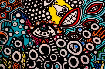 Multicolored abstract painting wallpaper, colorful, street art, multi colored