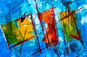 Red and Blue Abstract Painting wallpaper, abstract expressionism, acrylic
