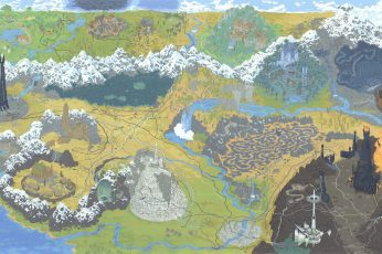 Multicolored map painting wallpaper, Figure, Art, The Lord of the Rings