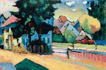Painting wallpaper, Wassily Kandinsky, artwork, architecture, built structure