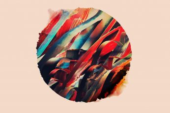 Multicolored abstract painting wallpaper, digital art, simple, circle, colorful
