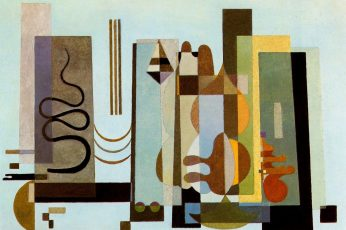 Painting wallpaper, Wassily Kandinsky, classic art, shapes, indoors, no people