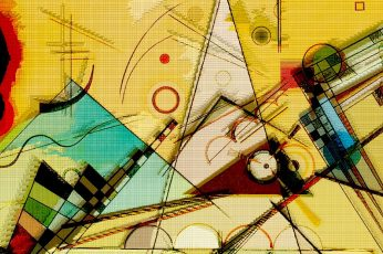 Wassily Kandinsky wallpaper, painting, abstract, circle, triangle, geometry