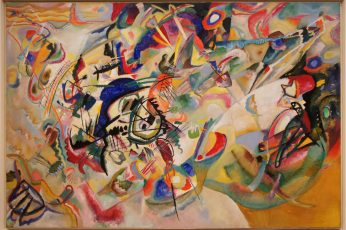 Multicolored abstract painting wallpaper, Wassily Kandinsky, classic art