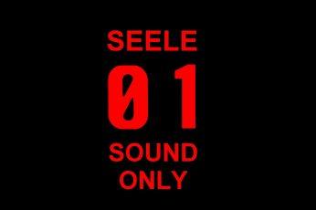 Seele 01 Sound Only wallpaper, Neon Genesis Evangelion,